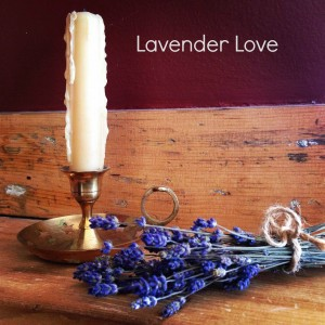 Candle and lavender.