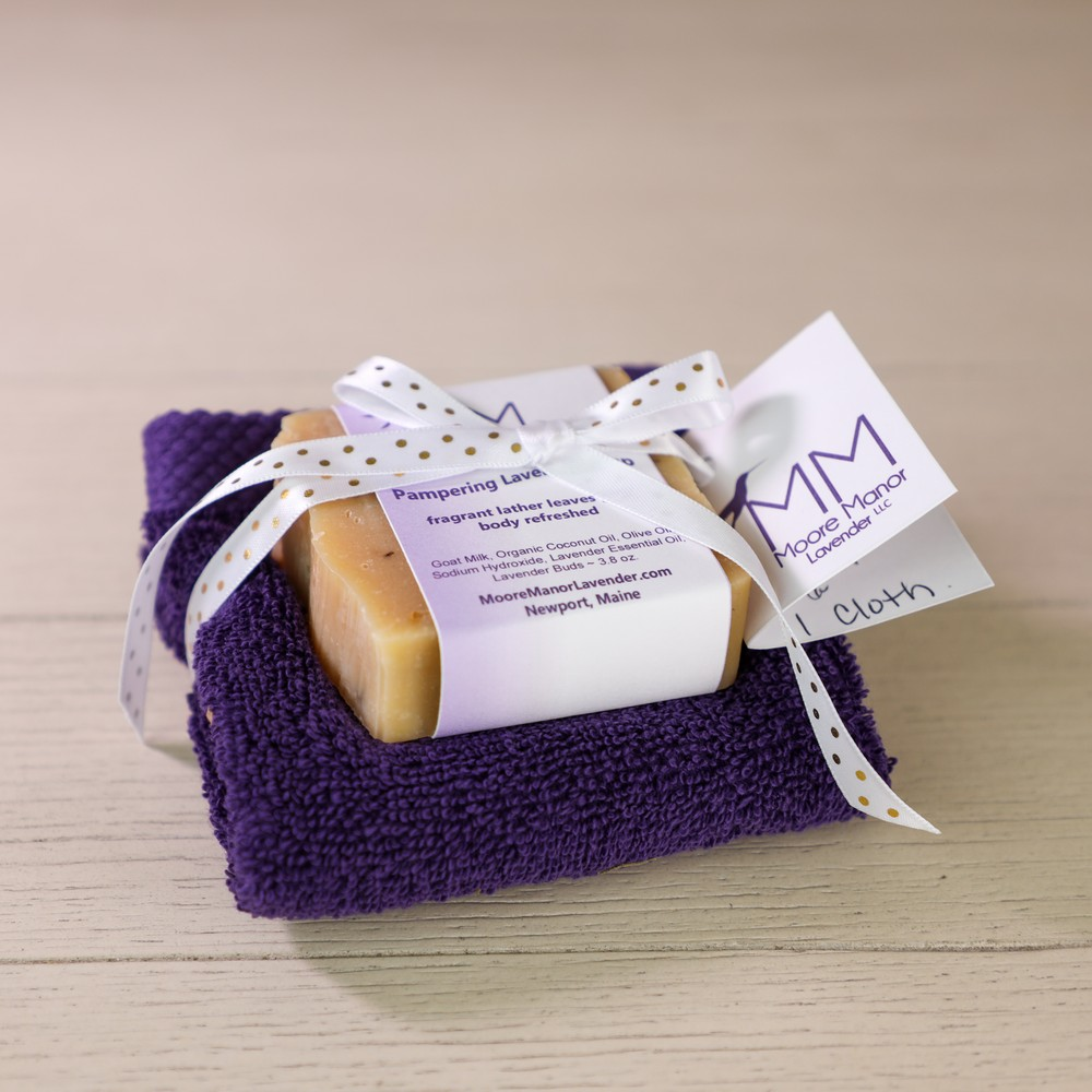 cloth & lavender soap