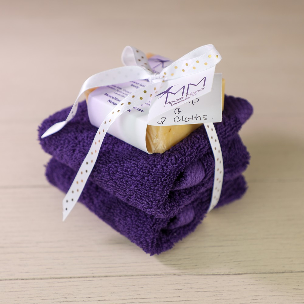 2 cloths & lavender soap