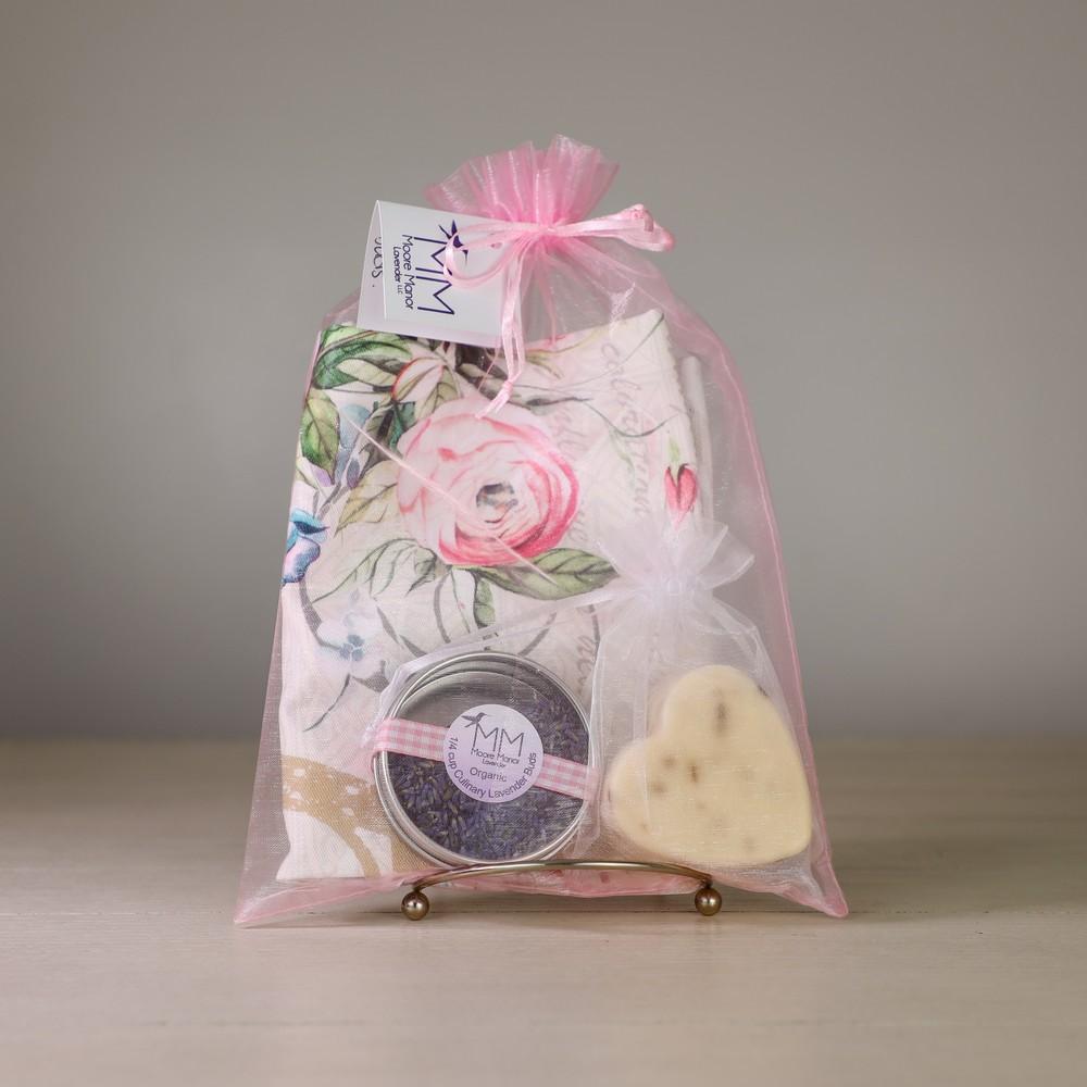 tea towel, lavender soap, culinary