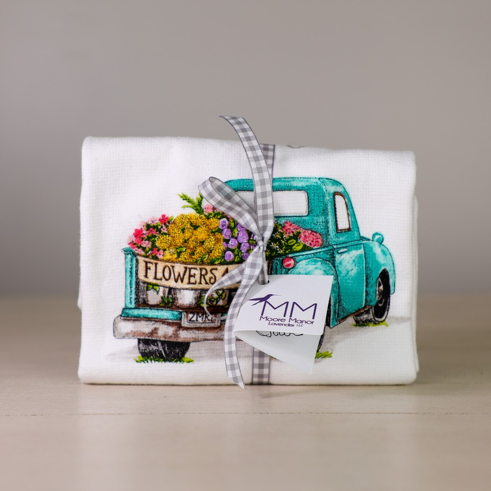 truck tea towel
