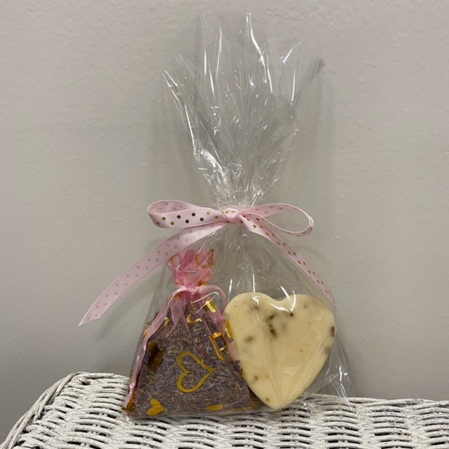 pink sachet and soap